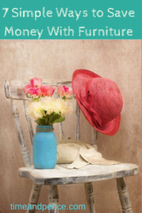 7 Simple Ways to Save Money with Furniture Chair with flowers and hat on