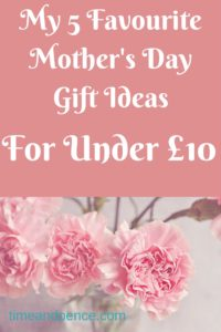 mother's day gift ideas for under £10