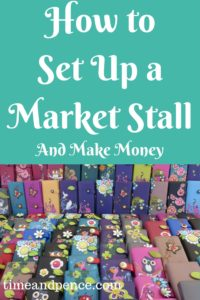 Set Up a Market Stall Purses on a table