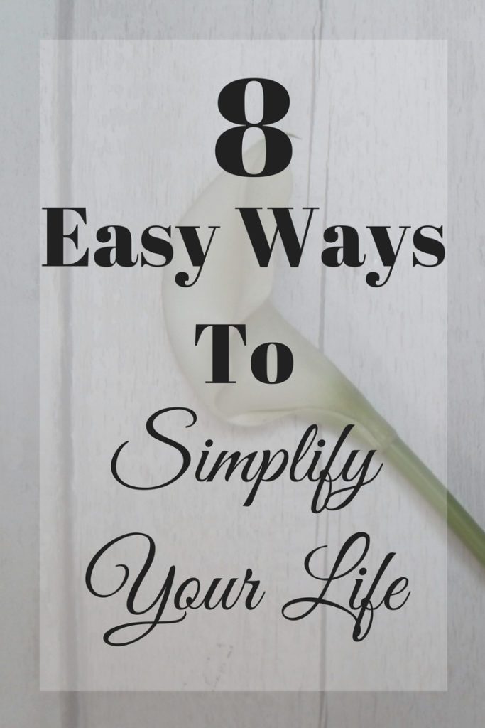 easy ways to simplify your life with a single lily image